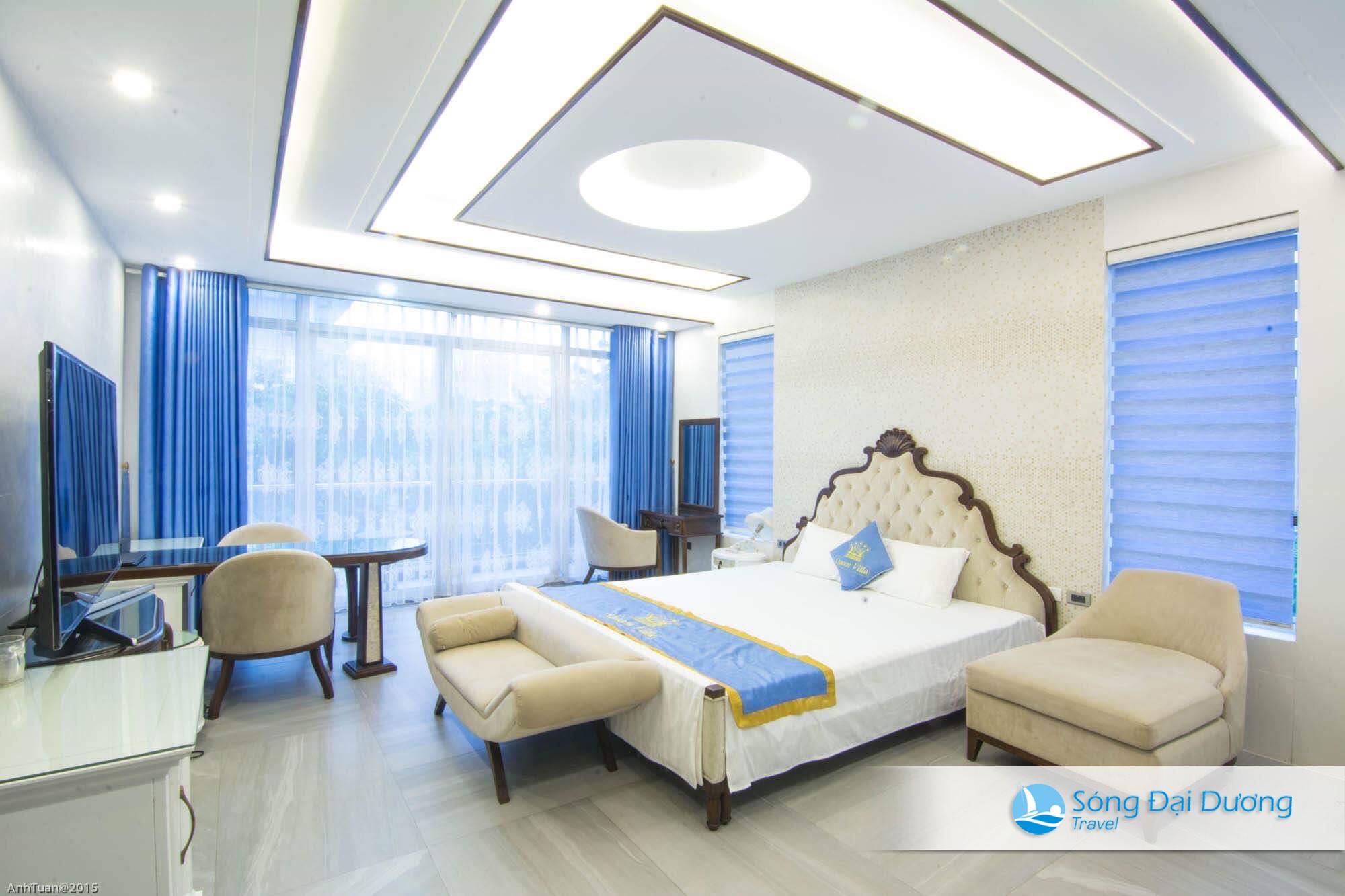 Phòng ngủ Villa sang trọng mang đậm chất Châu Âu