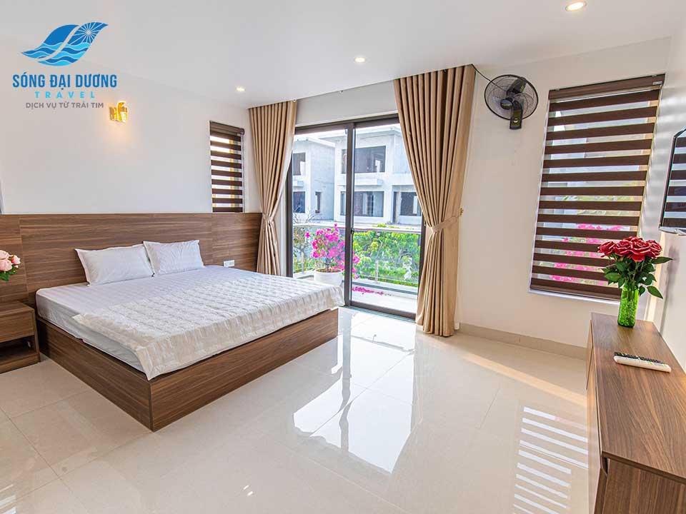 Phòng ngủ rộng rãi, không gian mở hiện đại