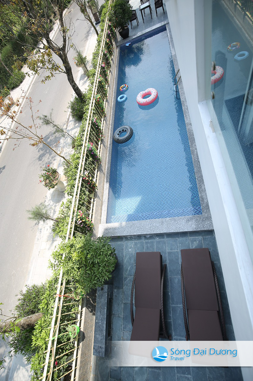 Bể bơi chung Villa đôi Ngọc Trai