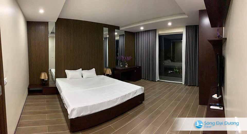 Phòng ngủ rông mang đậm phong cách sang trọng