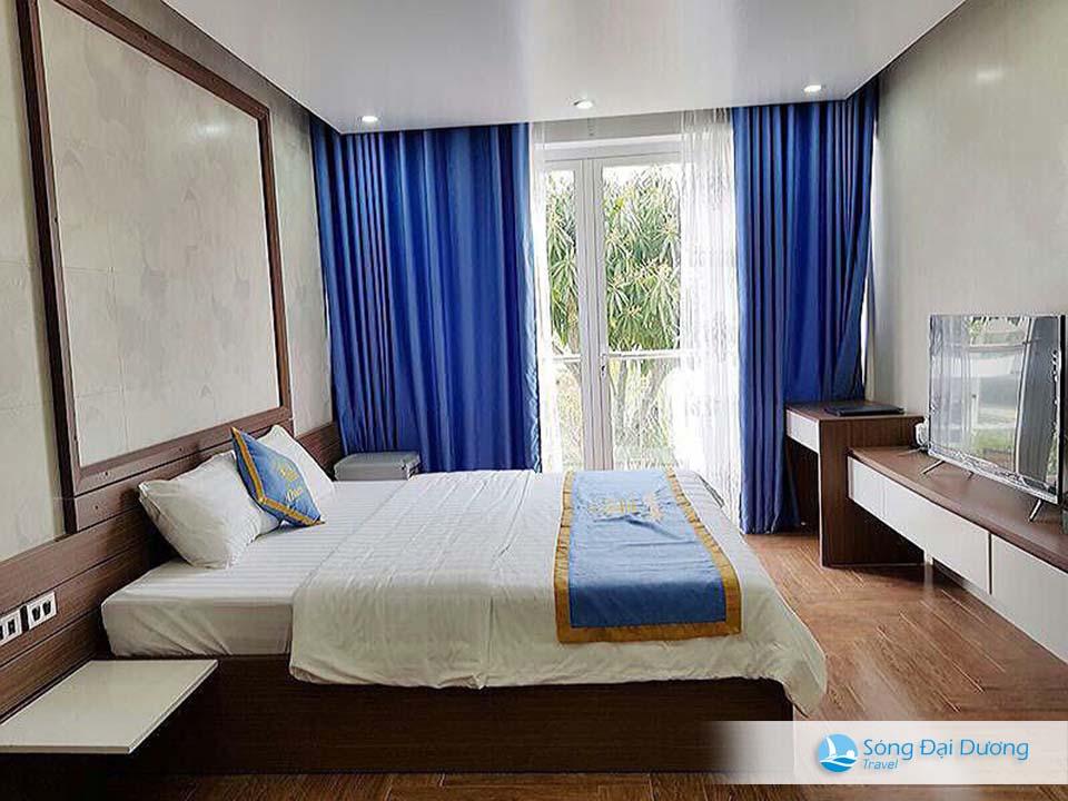 Phòng ngủ sang trọng kết hợp cùng không gian thoáng