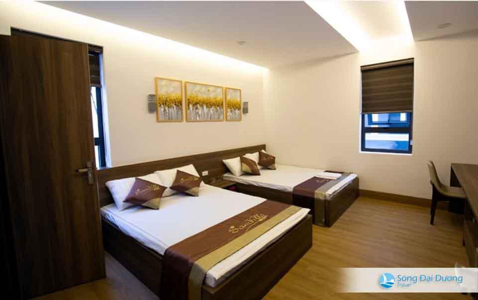 Phòng ngủ rộng mang phong cách hiện đại