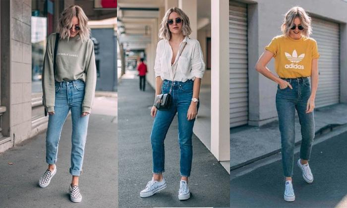 giày và quần jean