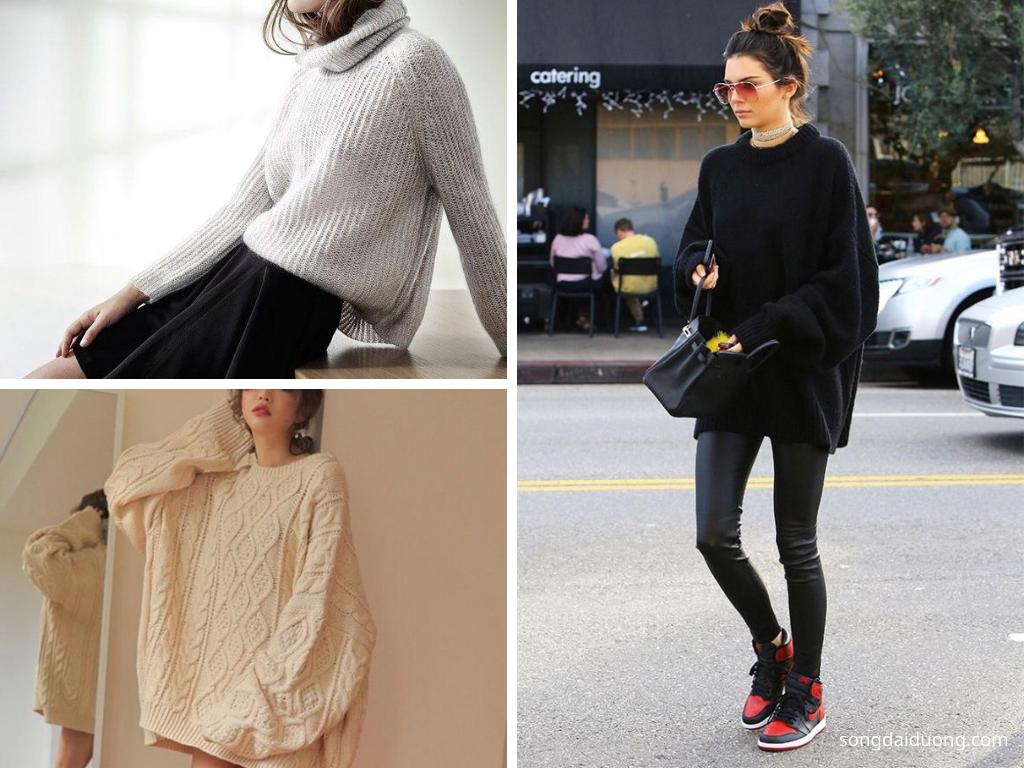 Áo len oversize - du lịch mùa đông nên mặc gì